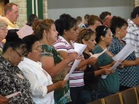 Hispanic women singing
